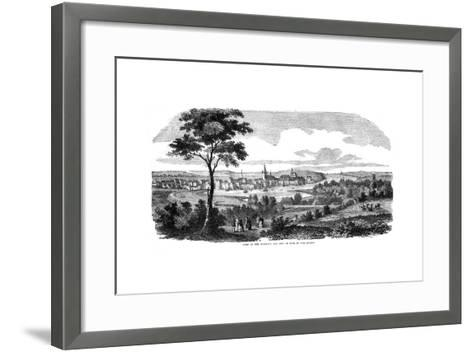 The Harbour and City of Kiel, Northern Germany, 1855--Framed Art Print