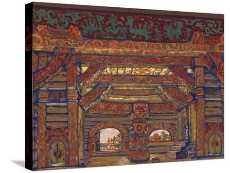 The Palace of Tsar Berendey, Stage Design for the Theatre Play Snow Maiden by A. Ostrovsky, 1912-Nicholas Roerich-Stretched Canvas Print