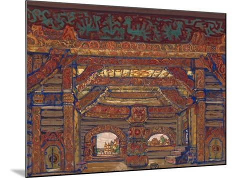 The Palace of Tsar Berendey, Stage Design for the Theatre Play Snow Maiden by A. Ostrovsky, 1912-Nicholas Roerich-Mounted Giclee Print