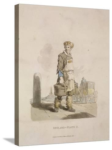 A Waterman to a Coach Stand, Provincial Characters, 1813--Stretched Canvas Print