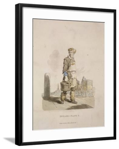A Waterman to a Coach Stand, Provincial Characters, 1813--Framed Art Print