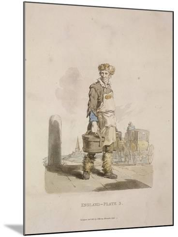 A Waterman to a Coach Stand, Provincial Characters, 1813--Mounted Giclee Print