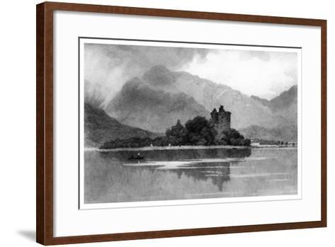 Kilchurn Castle, 1895-David Law-Framed Art Print
