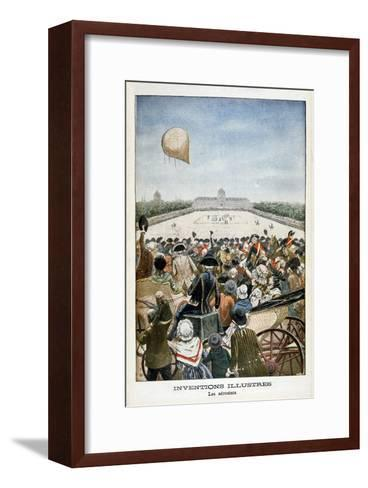 Departure of a Balloon from Paris on 27th June 1783--Framed Art Print