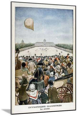 Departure of a Balloon from Paris on 27th June 1783--Mounted Giclee Print