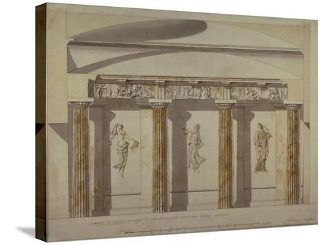 Design for the Large Cabinet in the Pavlovsk Palace, Early 1780S-Charles Cameron-Stretched Canvas Print