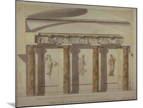 Design for the Large Cabinet in the Pavlovsk Palace, Early 1780S-Charles Cameron-Mounted Giclee Print
