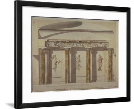 Design for the Large Cabinet in the Pavlovsk Palace, Early 1780S-Charles Cameron-Framed Art Print