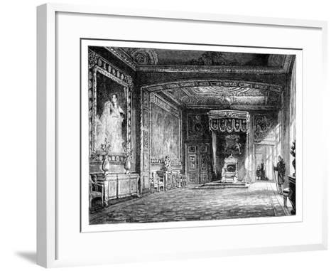 The Throne Room, Windsor Castle, C1888--Framed Art Print