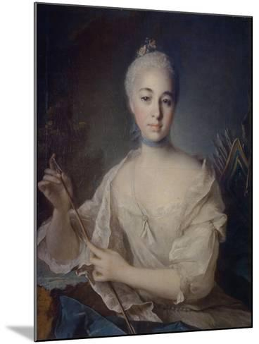 Portrait of Countess Anna Vorontsova (1743-176), Ca 1758-Louis Tocqué-Mounted Giclee Print
