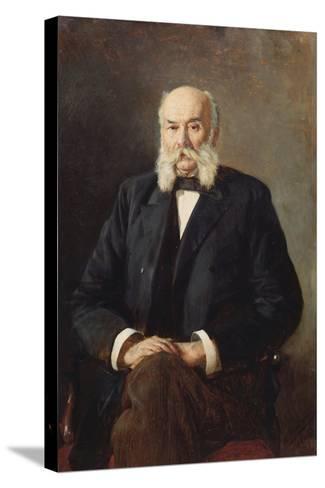 Portrait of the Author Ivan Goncharov (1812-189), 1888-Nikolai Alexandrovich Yaroshenko-Stretched Canvas Print