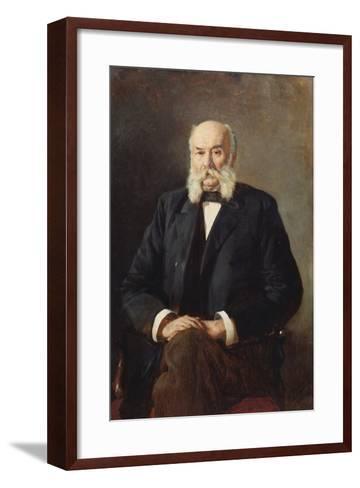 Portrait of the Author Ivan Goncharov (1812-189), 1888-Nikolai Alexandrovich Yaroshenko-Framed Art Print