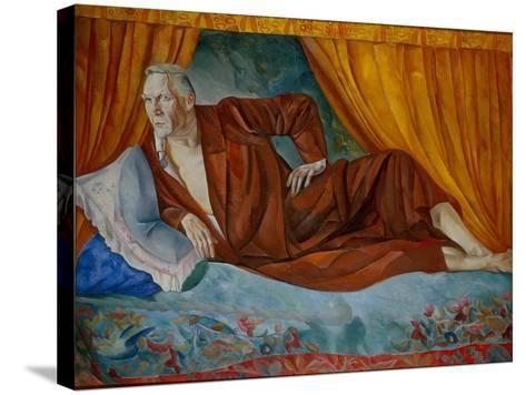 Portrait of the Singer Fyodor I. Shalyapin (1873-193), 1918-Boris Dmitryevich Grigoriev-Stretched Canvas Print
