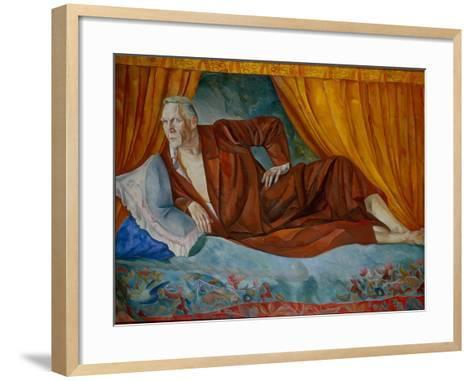 Portrait of the Singer Fyodor I. Shalyapin (1873-193), 1918-Boris Dmitryevich Grigoriev-Framed Art Print