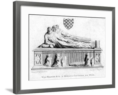 William Warren and His Wife, Mariana Catchmay, 1788--Framed Art Print
