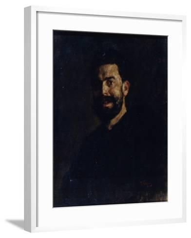 Portrait of the Opera Singer Francisco D?Andrade (1859-192), 1885-Valentin Alexandrovich Serov-Framed Art Print