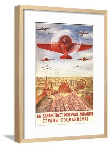 Long Live to the Strong Aviation of the Socialism Country!, 1939-Viktor Nikolaevich Dobrovolsky-Framed Art Print