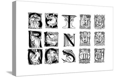 A Set of Decorative Initial Letters, 1898--Stretched Canvas Print