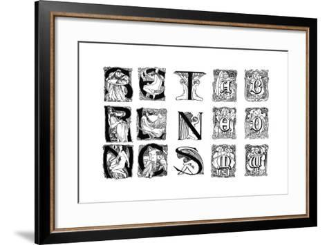 A Set of Decorative Initial Letters, 1898--Framed Art Print