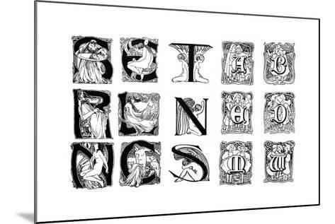 A Set of Decorative Initial Letters, 1898--Mounted Giclee Print
