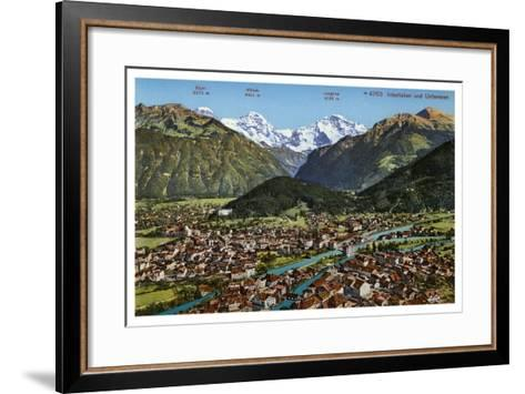 Interlaken, Switzerland, 20th Century--Framed Art Print