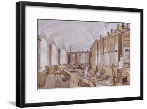 The Rossi Library in the Pavlovsk Palace-Anatoly Vladimirovich Treskin-Framed Art Print