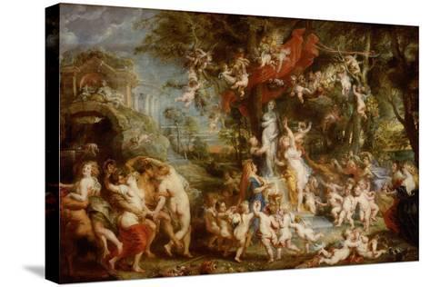 The Feast of Venus (The Festival of Venus Verticordi), 1636-1637-Peter Paul Rubens-Stretched Canvas Print