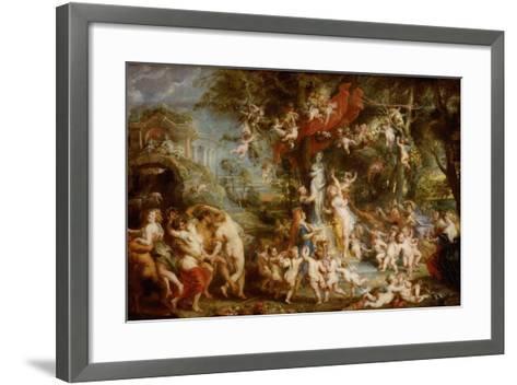 The Feast of Venus (The Festival of Venus Verticordi), 1636-1637-Peter Paul Rubens-Framed Art Print