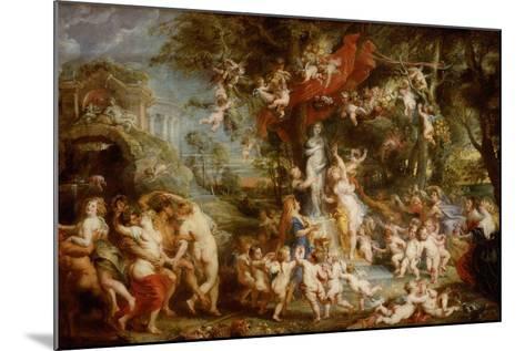 The Feast of Venus (The Festival of Venus Verticordi), 1636-1637-Peter Paul Rubens-Mounted Giclee Print