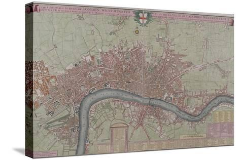 Map of London, 1725--Stretched Canvas Print