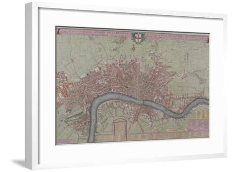 Map of London, 1725--Framed Art Print