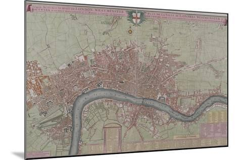 Map of London, 1725--Mounted Giclee Print