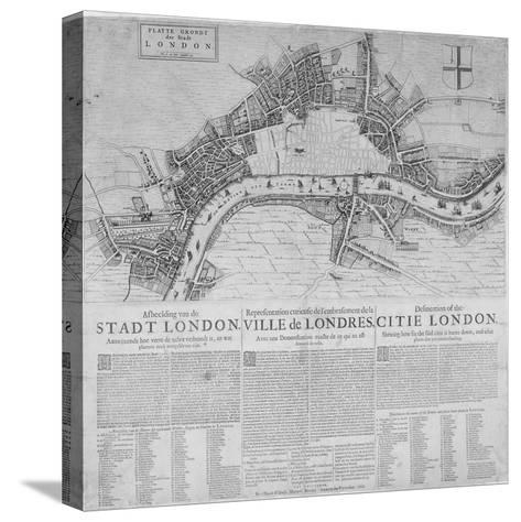 Map of London Showing the Destruction Caused by the Great Fire, 1666-Marcus Willemsz Doornick-Stretched Canvas Print