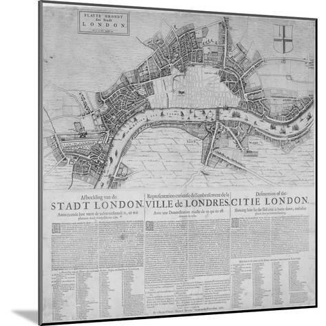 Map of London Showing the Destruction Caused by the Great Fire, 1666-Marcus Willemsz Doornick-Mounted Giclee Print