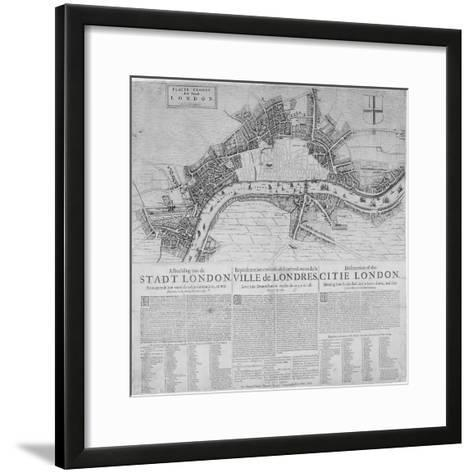 Map of London Showing the Destruction Caused by the Great Fire, 1666-Marcus Willemsz Doornick-Framed Art Print