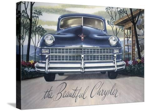 Poster Advertising a Chrysler, 1946--Stretched Canvas Print