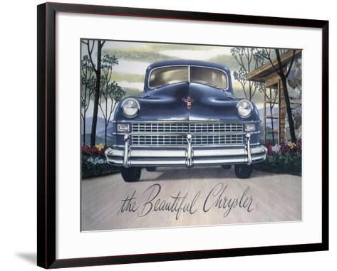 Poster Advertising a Chrysler, 1946--Framed Art Print