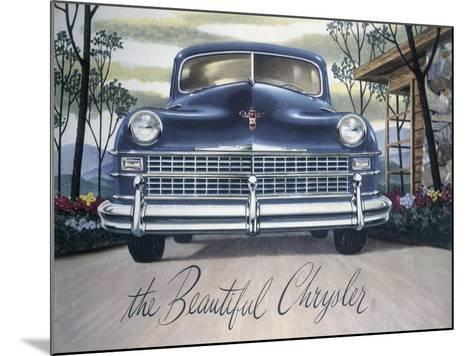 Poster Advertising a Chrysler, 1946--Mounted Giclee Print