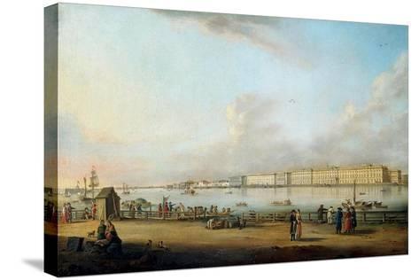 View of the Winter Palace of the Vasilyevsky Island, 1796-Johann Georg Von Mayr-Stretched Canvas Print