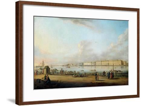 View of the Winter Palace of the Vasilyevsky Island, 1796-Johann Georg Von Mayr-Framed Art Print