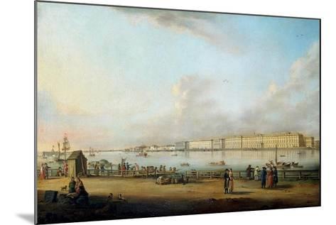 View of the Winter Palace of the Vasilyevsky Island, 1796-Johann Georg Von Mayr-Mounted Giclee Print
