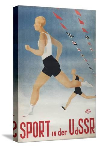 Sport in the USSR (Poster of the Intourist Compan), 1935-Olga Vyacheslavovna Eyges-Stretched Canvas Print