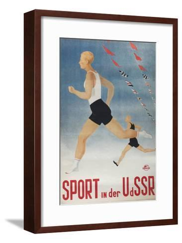 Sport in the USSR (Poster of the Intourist Compan), 1935-Olga Vyacheslavovna Eyges-Framed Art Print
