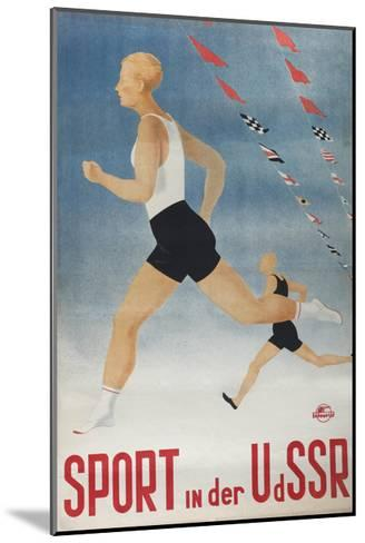 Sport in the USSR (Poster of the Intourist Compan), 1935-Olga Vyacheslavovna Eyges-Mounted Giclee Print