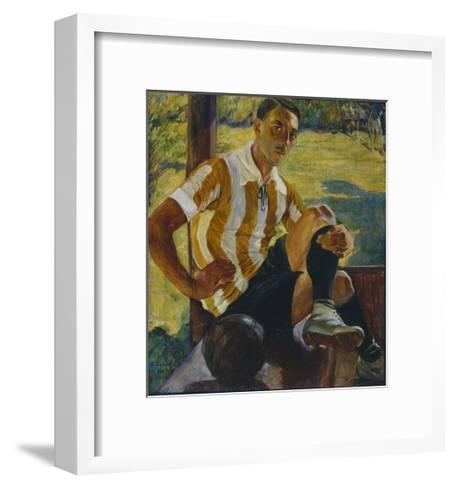 Footballer, 1925-Olga Ludvigovna Della-Vos-Kardovskaya-Framed Art Print