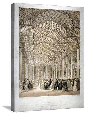 Interior of the Covent Garden Theartre, Bow Street, Westminster, London, 1845-Day & Haghe-Stretched Canvas Print