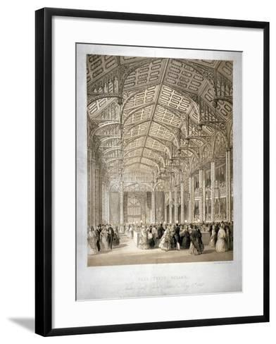 Interior of the Covent Garden Theartre, Bow Street, Westminster, London, 1845-Day & Haghe-Framed Art Print