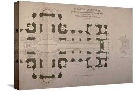 Plan of Seating Arrangements for the Duke of Wellington's Funeral, 1852--Stretched Canvas Print