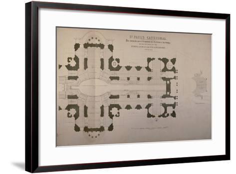 Plan of Seating Arrangements for the Duke of Wellington's Funeral, 1852--Framed Art Print