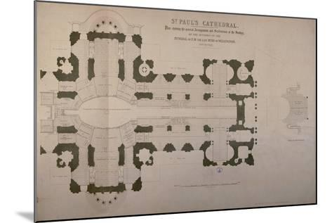 Plan of Seating Arrangements for the Duke of Wellington's Funeral, 1852--Mounted Giclee Print